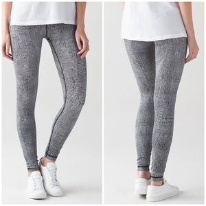Lululemon Wunder Under Pant III Fall Net White Blk